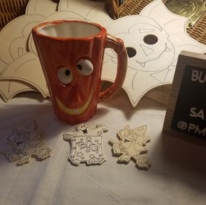 Halloween craft set and pumpkin Mug